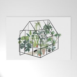 greenhouse with plants Welcome Mat