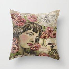 Mea art designs  Throw Pillow