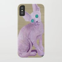 sphynx iPhone & iPod Cases featuring sphynx by terastar