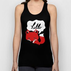 The Fox Says Hello Unisex Tank Top