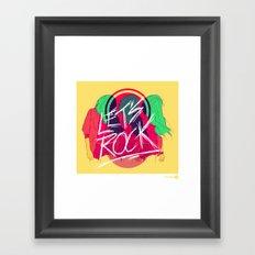 Let's Rock Framed Art Print