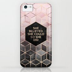 She Believed She Could - Grey Pink iPhone 5c Slim Case