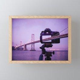 Bay Bridge Capture Framed Mini Art Print