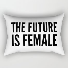 The Future is Female Rectangular Pillow