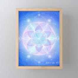 Light Frequency Mandala Framed Mini Art Print
