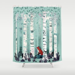 The Birches Shower Curtain