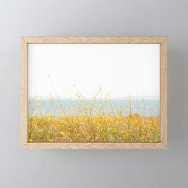 Nature Photography Wild Yellow Flowers I Framed Mini Art Print