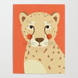 Cheetah, Animal Portrait Poster