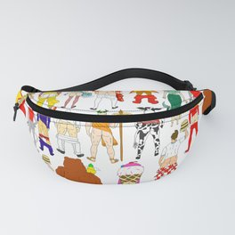 Fast Food Butts Pattern Fanny Pack