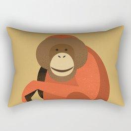 Whimsy Orang Utan Rectangular Pillow