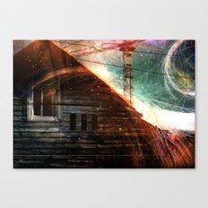 Derelict window Canvas Print