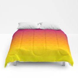 Pink and Yellow Ombre - Flipped Comforters