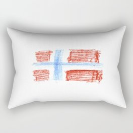 flag of norway 8 – Chalk version  snow,scandinavia,scandinavian,norwegian,oslo Rectangular Pillow