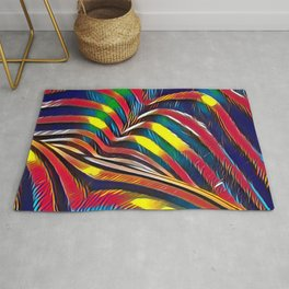 2602s-AK Nude Body Back Striped Abstraction Bright Color Pastel by Chris Maher Rug