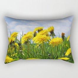 Dandelion meadow Rectangular Pillow