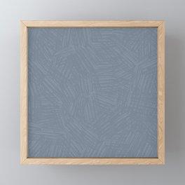 Light Slate Gray Marks Framed Mini Art Print