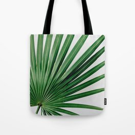 Palm Leaf Detail Tote Bag