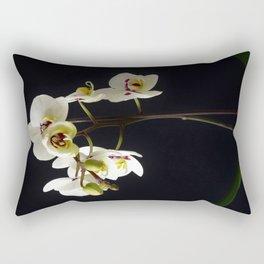 White Orchid 3 Rectangular Pillow