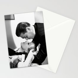 Clark Gable and Joan Crawford, Hollywood portrait black and white photograph / black and white photography Stationery Cards