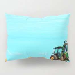 Tractor and Hay Roll on the Ridge Pillow Sham