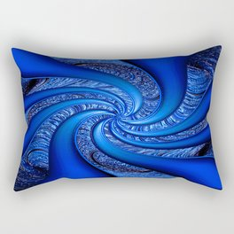 Twisted in Blue... Rectangular Pillow
