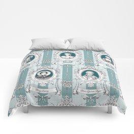 Science Women Toile de Jouy - Teal Comforters
