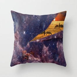 Earth Tears Into Space Throw Pillow