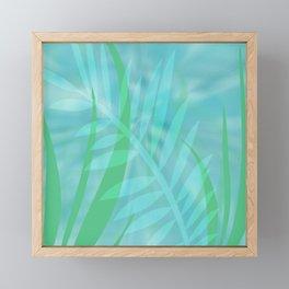 Tropical Leaves Framed Mini Art Print