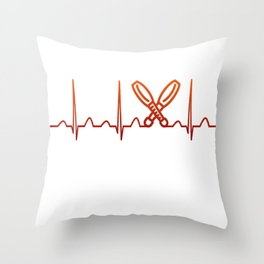 Juggling Heartbeat Throw Pillow
