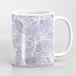 Illustrated map of Berlin-Mitte. Ink pen design Coffee Mug