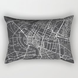 Bangkok Map, Thailand - Gray Rectangular Pillow