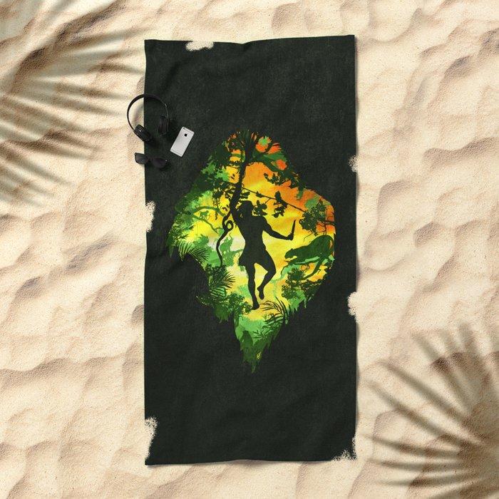 Ape Man Beach Towel