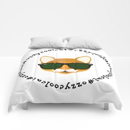 Ozzy the Cool Cat #OzzyCoolCat Comforters