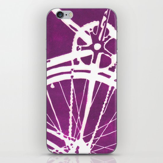 Purple Bike iPhone & iPod Skin