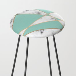 Marble Geometry 055 Counter Stool