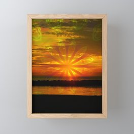 Sunset at the Lake Framed Mini Art Print