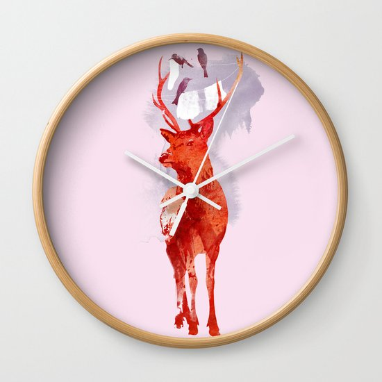 Useless Deer Wall Clock