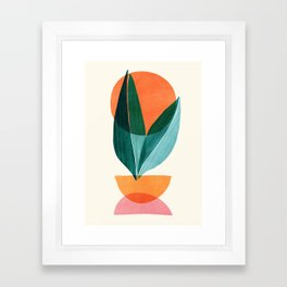 Nature Stack II / Abstract Shapes Illustration Framed Art Print