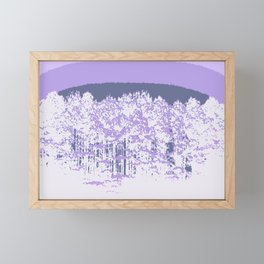 Lavender Mod Trees Framed Mini Art Print