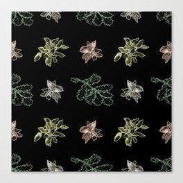 Quercus (black) Canvas Print