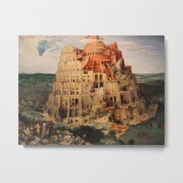 The Tower of Babel by Pieter Bruegel the Elder Metal Print