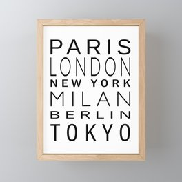 Fashion Capitals Framed Mini Art Print