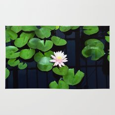 Lily pads and flower Rug