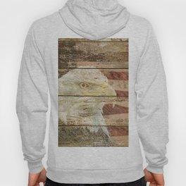 Rustic Bald Eagle Bird American Flag Patriotic Country Art A167 Hoody