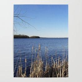 """Incredi-blue"" lake view - Lake Mendota, Madison, WI Poster"