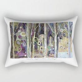 POSITIVE AFFIRMATION WORDS TREES Rectangular Pillow
