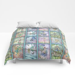 Many Fairies Molly Harrison Fantasy Art Comforters