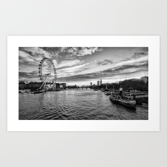The Silvery Thames Art Print
