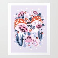 Alice in Winterland Art Print