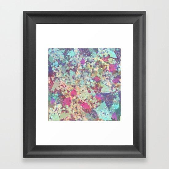 Spaced Geometric Framed Art Print